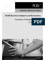 AQA GCSE Business Studies Changes to Specification A