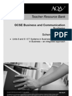 AQA GCSE Unit 8 and 9 Business and Communications Scheme of Work 2010