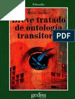 Badiou - Breve Tratado de Ontología Transitoria