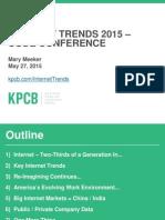 Internet Trends 2015 - Updated 01 June 2015