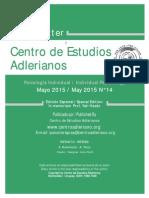 Newsletter Nº 14 Centro de Estudios Adlerianos