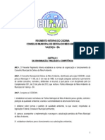 Regimento Interno do CODEMA 2015