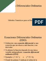 Ecuaciones diferenciales ordinarias Teorico