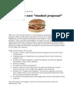 original modest proposal essay assignment