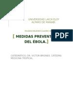Medidas preventivas del ebola