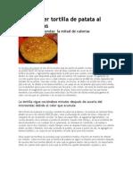 Cómo Hacer Tortilla de Patata Al Microondas