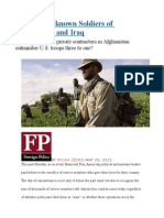 The New Unknown Soldiers of Afghanistan and Iraq