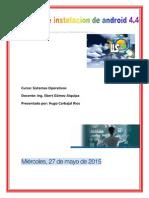 manual de instalacion de  android4.4 para pc