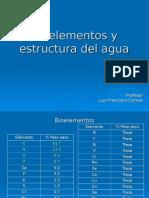 2. Bioelementos, Enlaces y Estructura Del Agua