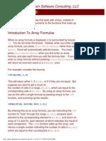 Array Formulas