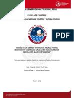 Davila Segundo Diseño Sistema Control Neural Monitoreo Control Columna Destilacion Multicomponentes
