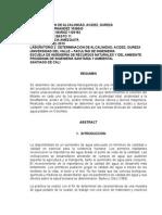 Calculo de Alcalinidad,Acidez,Dureza