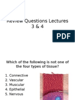 Review Questions Lectures 3 and 4
