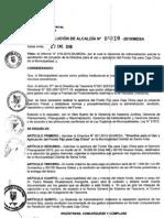 RESOLUCION DE ALCALDIA 010-2010/MDSA