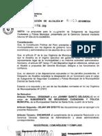 RESOLUCION DE ALCALDIA 013-2010/MDSA