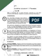 RESOLUCION DE ALCALDIA 017-2010/MDSA