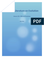 DNA and Evolution Paper 3