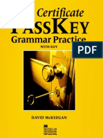 First Certificate Passkey Book