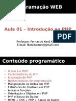 Aula PHP 01 - Introdução Ao PHP