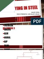 Alloying in Steel