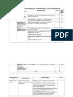 Matriz diagnóstico Comunicación 5to