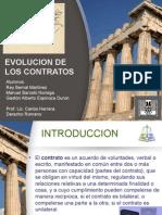 Exposicion Evolucion de Los Contratos en el derecho romano