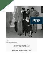 ¿En Qué Piensas? (1934)  Xavier Villaurrutia.