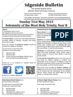 2015-05-31 -Solemnity of the Most Holy Trinity B