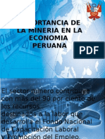 Importancia de La Mineria en La Economia Peruana