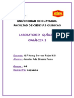 Prácticas Del Primer Parcial Organica (( Jennifer Simarra Palma.)) Grupo 4
