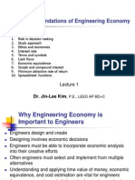Lecture 1 Chap 1 Foundations of Engineering Economy