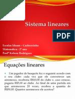 Sistema de Equação Linear