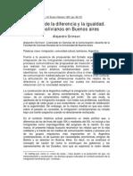 Relatos de La Diferencia y La Igualdad.