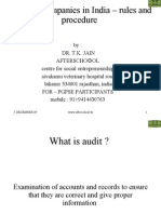 Audit of Companies