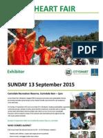 Green Heart Fair - Exhibitor Application Form - September 2015