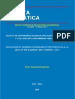 Delimitación Perú-Chile en Revista Geomática