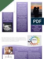 community engagement exercise brochure