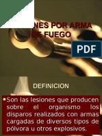 Lesiones Por Arma de Fuego