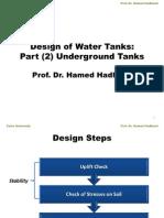 Design for Underground Water Tank