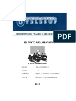 Comunicacion II - El Texto Argumentativo.