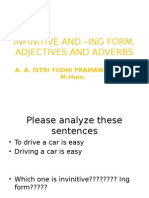 Infinitive and –Ing Form