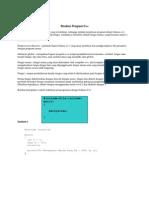 Struktur Program C