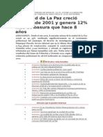 El Censo en La Paz tendría un error de -10.3 %.doc