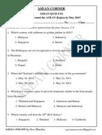 Asean Quiz 62