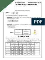 Clasificación de Palabras.doc