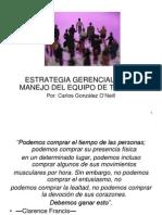 ESTRATEGIA GERENCIAL EN EL MANEJO DEL EQUIPO DE TRABAJO