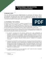 04-El Ministerio Vocacional y Sus Funciones