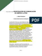 Barbero.martin - Retos a La Investigacion en La Comunicacion en a.L.