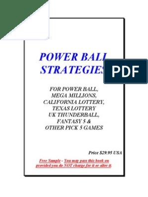 Power Ball Book Free | Powerball | Mega Millions