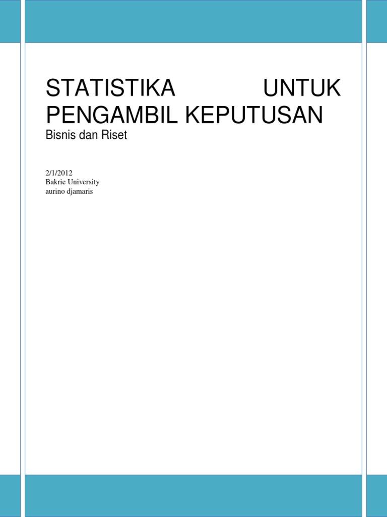 Statistika Untuk Bisnis Dan Riset